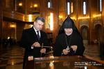 Վարչապետն այցելել է Հայ Առաքելական եկեղեցու Ռուսաստանի և Նոր Նախիջևանի թեմի Առաջնորդանիստ Սուրբ Պայծառակերպություն եկեղեցի (25.01.2017)