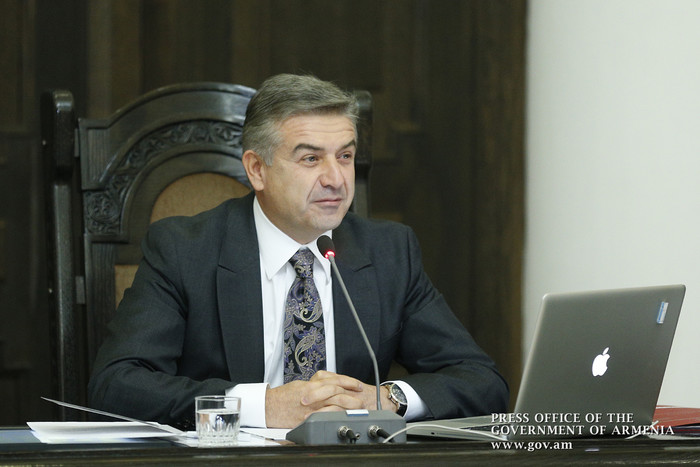 Карен Карапетян поблагодарил президента Армении Сержа Саргсяна за оказанное доверие
