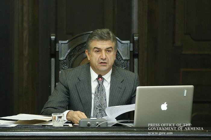 «Грапарак»: Карен Карапетян совершит свой первый визит в Сюник и Карабах