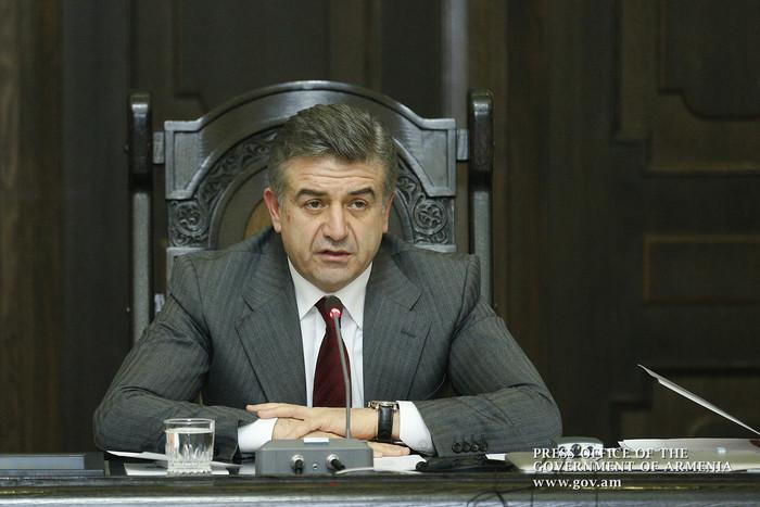 Премьер Армении Карен Карапетян призвал членов правительства быть максимально лаконичными