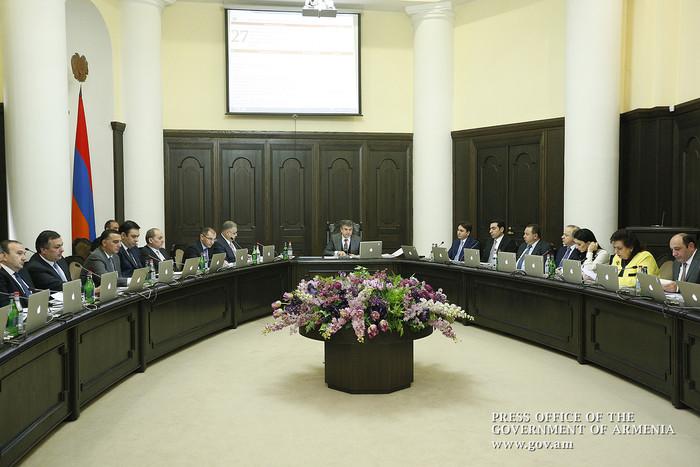 Министры в субботу отчитаются перед премьером Армении о ходе исполнения полученных поручений