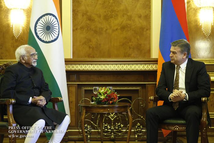Вице-президент Индии: Готовы поделиться с Арменией нашими технологиями