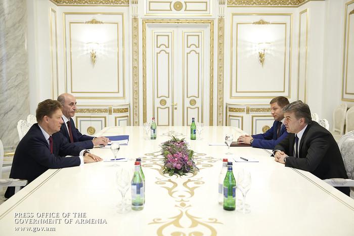 Премьер Карен Карапетян: «Газпром» – надежный партнер Армении