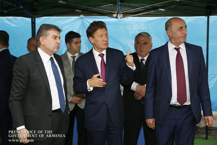 Алексей Миллер: Компания «Газпром» планирует реализацию в Армении новых социальных программ
