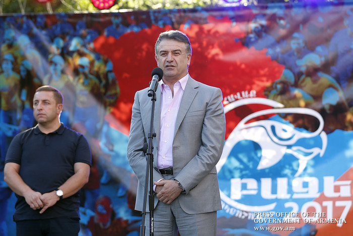 Карен Карапетян обратился к участникам «Базе-2017»: Самое главное – любите нашу страну