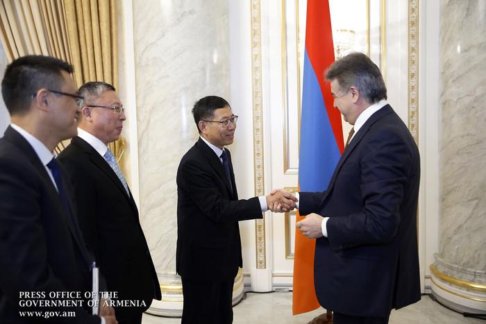 Карен Карапетян: Армения и Китай обладают большим потенциалом для взаимовыгодного сотрудничества