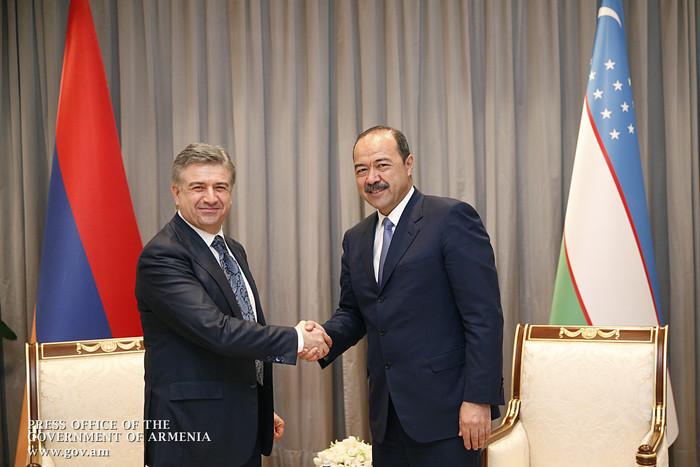 Премьеры Армении и Узбекистана обсудили вопрос открытия прямого авиасообщения между Ереваном и Ташкентом