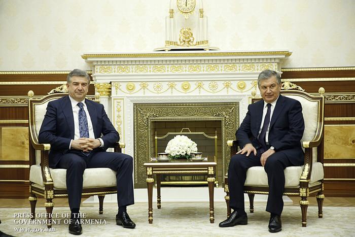 Премьер Армении и президент Узбекистана заявили о важности развития торгово-экономических отношений