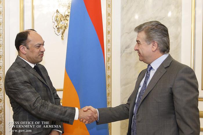 У премьера Армении Карена Карапетяна обсуждены вопросы развития сферы туризма