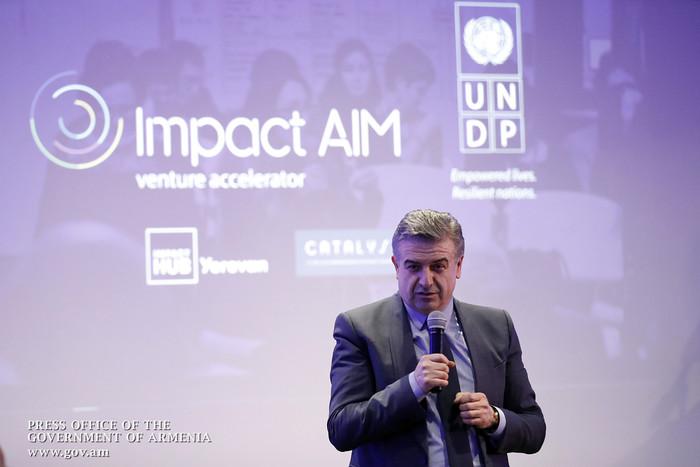 Карен Карапетян на открытии ImpactAim: Правительство Армении чрезвычайно заинтересовано в развитии сферы акселераторов