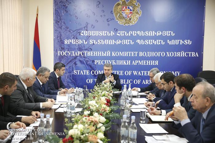 Карен Карапетян потребовал от Госкомитета водного хозяйства революции