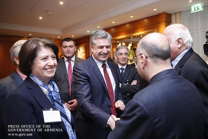 Карен Карапетян призвал бизнесменов Швейцарии помнить про рынки ЕАЭС и Ирана