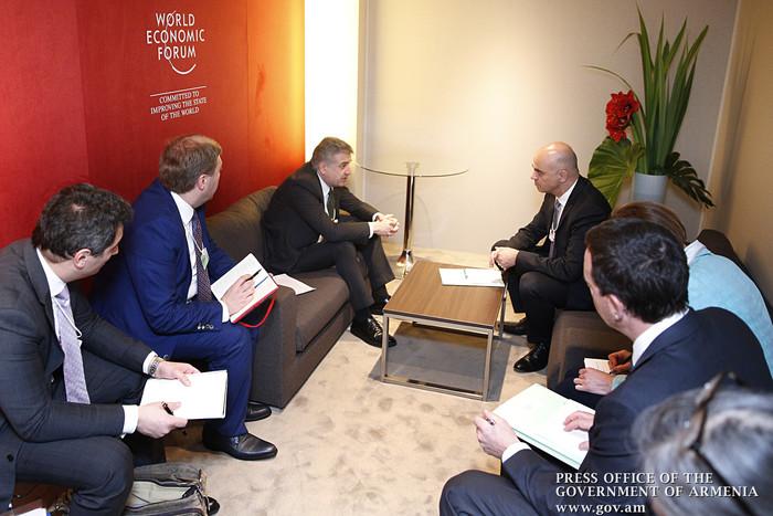 «Мы с оптимизмом смотрим на Армению»: встреча глав крупных международных компаний с премьером К. Карапетяном в Давосе