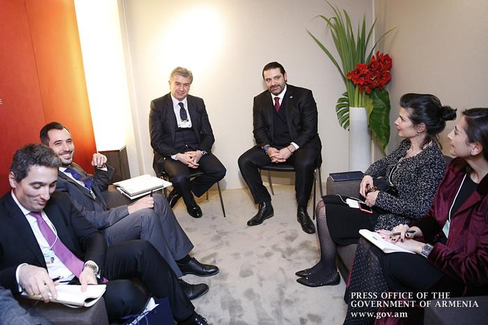 Карен Карапетян рассказал премьеру Ливана, почему Армения может представлять интерес для ливанского бизнеса