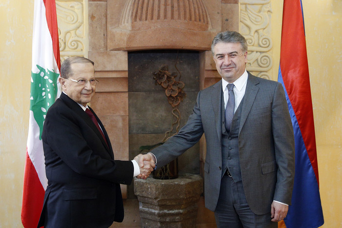 Карен Карапетян провел рабочий обед с президентом Ливана