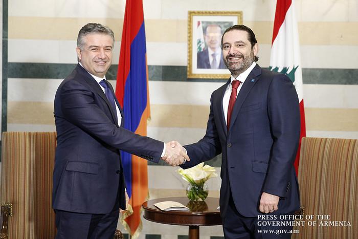 Премьеры Армении и Ливана обсудили перспективы развития экономического сотрудничества