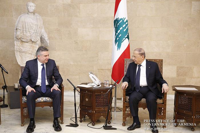 Президент Ливана обещал премьеру Армении Карену Карапетяну всяческое содействие двусторонним инициативам