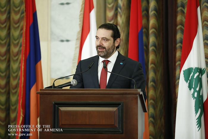 Саад Харири: Обмен инвестициями между Арменией и Ливаном находится на активной стадии
